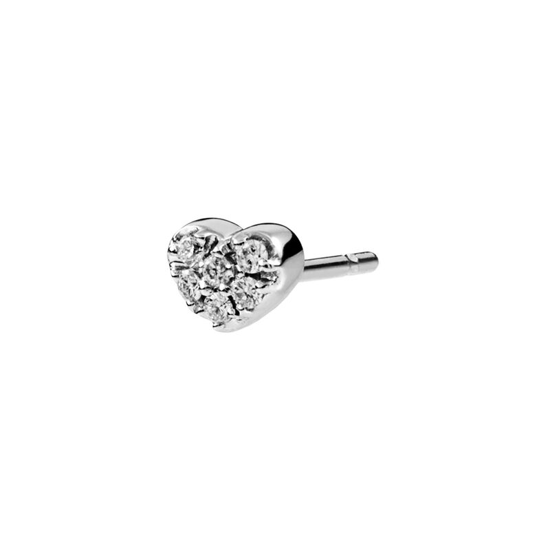 Gold mini heart earrings diamonds 0.05 ct, J01633-01-H, hi-res