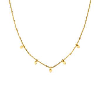 Gold plated silver leaf necklace, J04822-02, hi-res