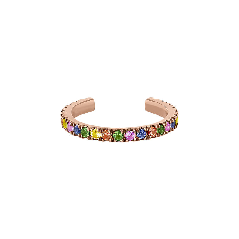 Rose gold multicolor sapphire and tsavorite bracelet, J04335-03-MULTI-H, hi-res