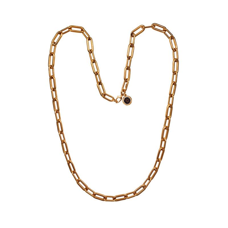 Collar eslabón redondeado oro rosa, J00904-03, hi-res
