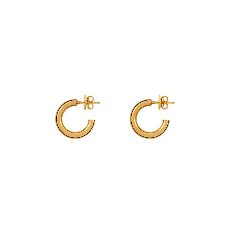 Pendientes aro liso pequeños oro, J01585-02, hi-res