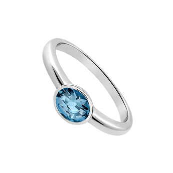 Silver solitaire with blue topaz, J03229-01-LB, hi-res