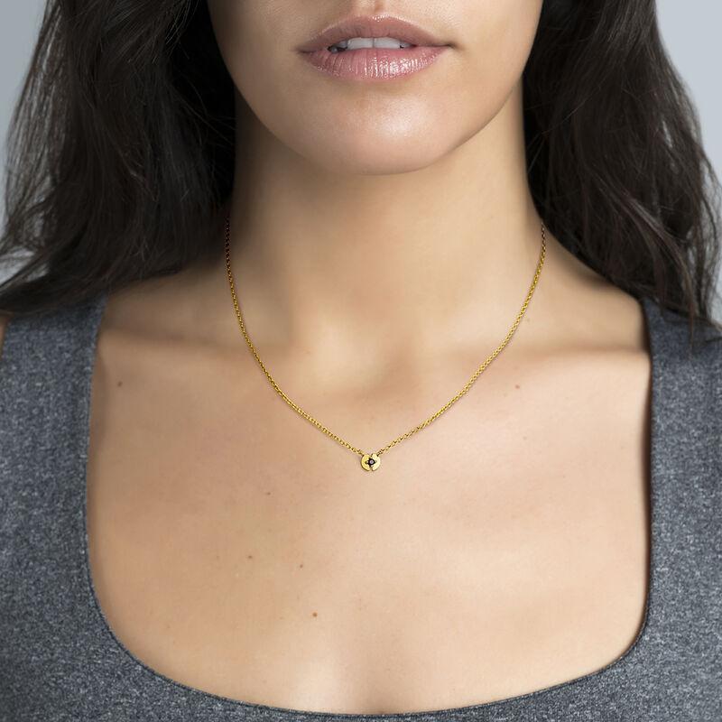 Colgante círculo espinela plata recubierta oro, J03746-02-BSN, hi-res