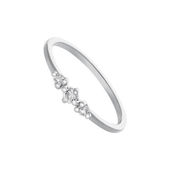 Silver ring with three topazes, J03688-01-WT, hi-res