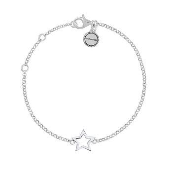 Bracelet étoile creuse argent , J01373-01, hi-res