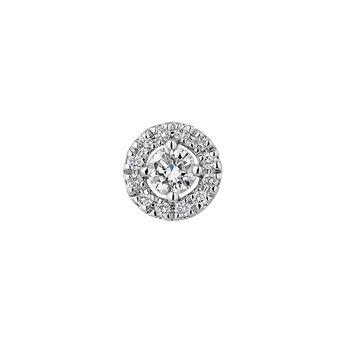 Boucle d'oreille bordure en diamants or blanc 0,10 ct, J04224-01-10-06-H, hi-res