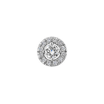 Pendiente orla diamantes oro blanco 0,10 ct, J04224-01-10-06-H, hi-res