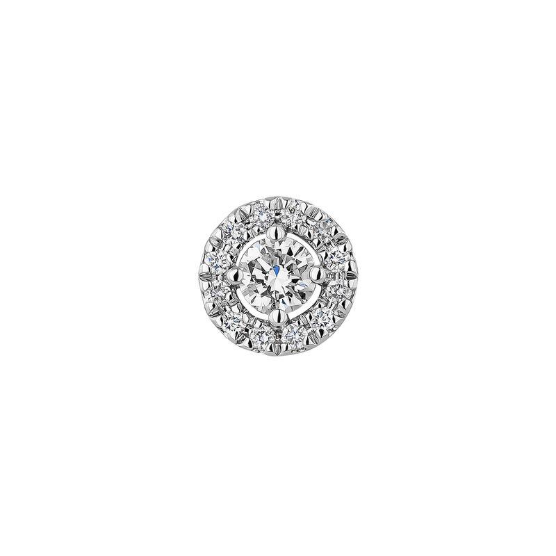 White gold earrings edging diamond 0,10 ct, J04224-01-10-06-H, hi-res