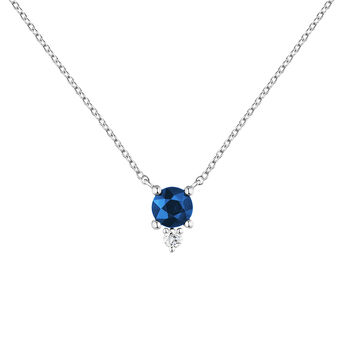 Necklace sapphire and diamond white gold, J04081-01-BS, hi-res