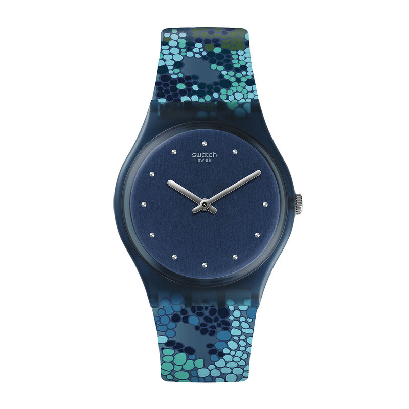 Swatch x Aristocrazy blue watch + chameleon bracelet, 0, hi-res