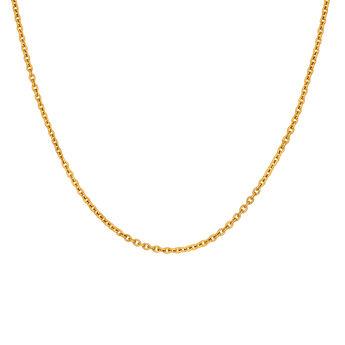 Cadena simple plata recubierta oro, J03434-02, hi-res