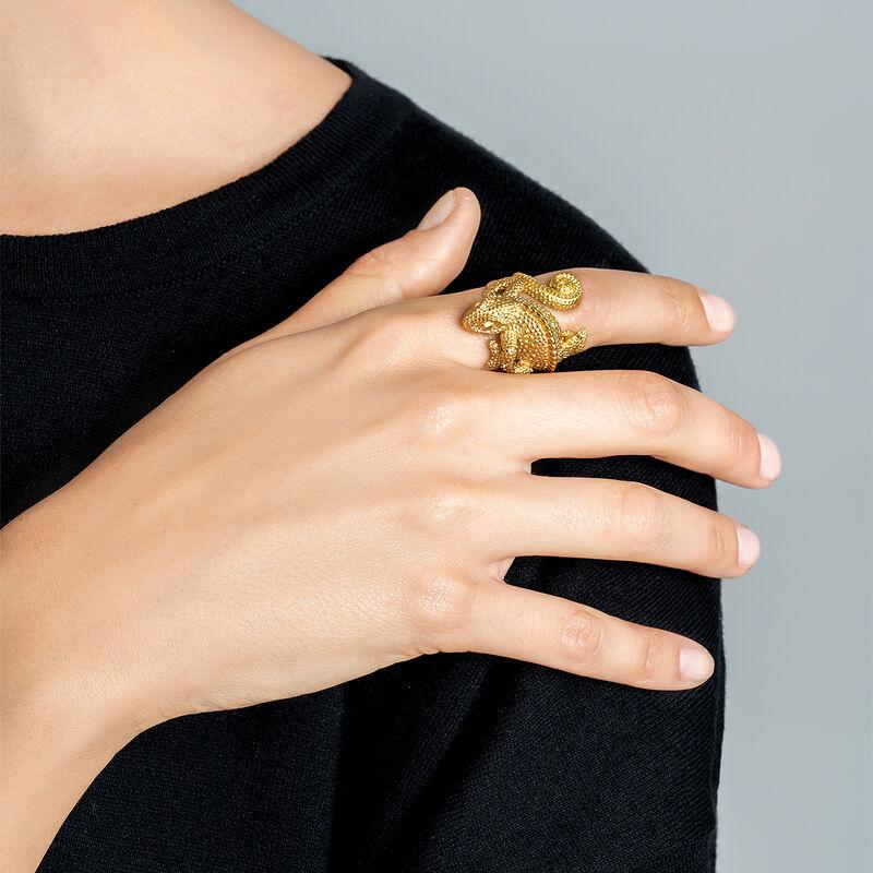 Gold chameleon ring, J03178-02, hi-res