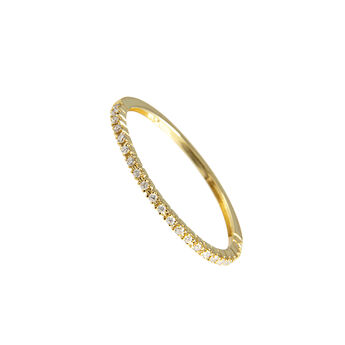 Gold thin ring with diamonds, J00325-02-05, hi-res