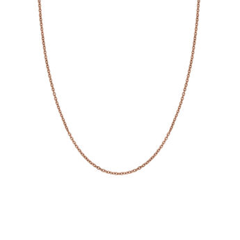 Long rose gold plated chain, J03737-03, hi-res