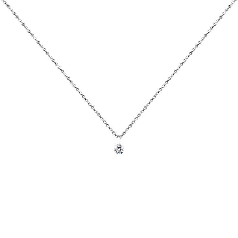 White gold diamond necklace, J04429-01, hi-res