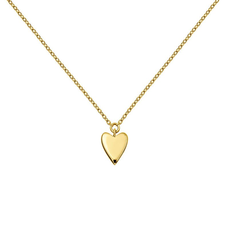 Gold heart necklace, J03864-02, hi-res
