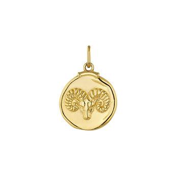 Pendentif bélier argent plaqué or, J04780-02-ARI, hi-res