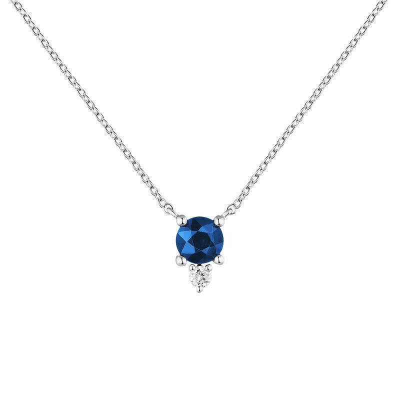 Colgante zafiro y diamante oro blanco, J04081-01-BS, hi-res