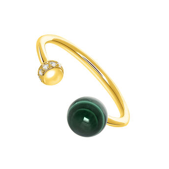 Silver You and I Malachite RingSilver You and I Malachite Ring, J03514-02-WT-MA, hi-res