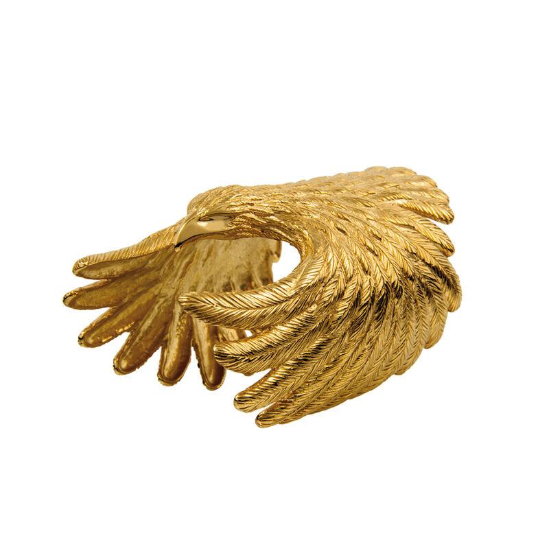 Bracelet jonc aigle argent plaqué or, J01499-02, hi-res