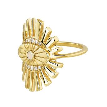 Gold plated Boho ring , J04133-02-WT-WMS, hi-res