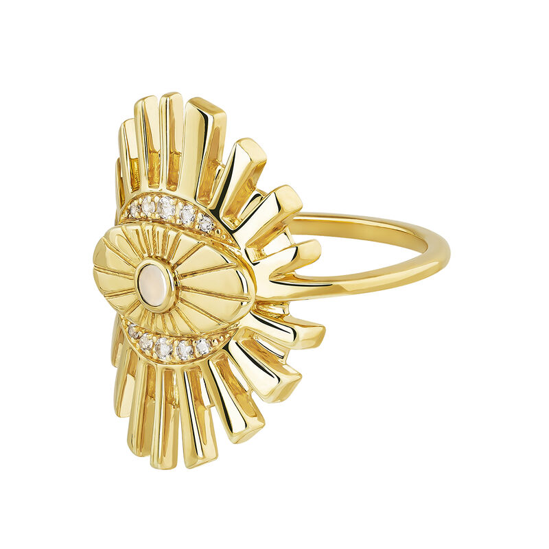 Gold plated Boho ring , J04133-02-WT-WMS, hi-res
