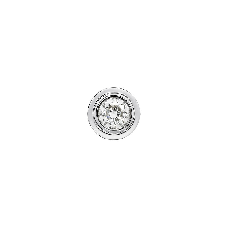 White gold double chaton earring 0.07 ct., J03404-01-07-H, hi-res