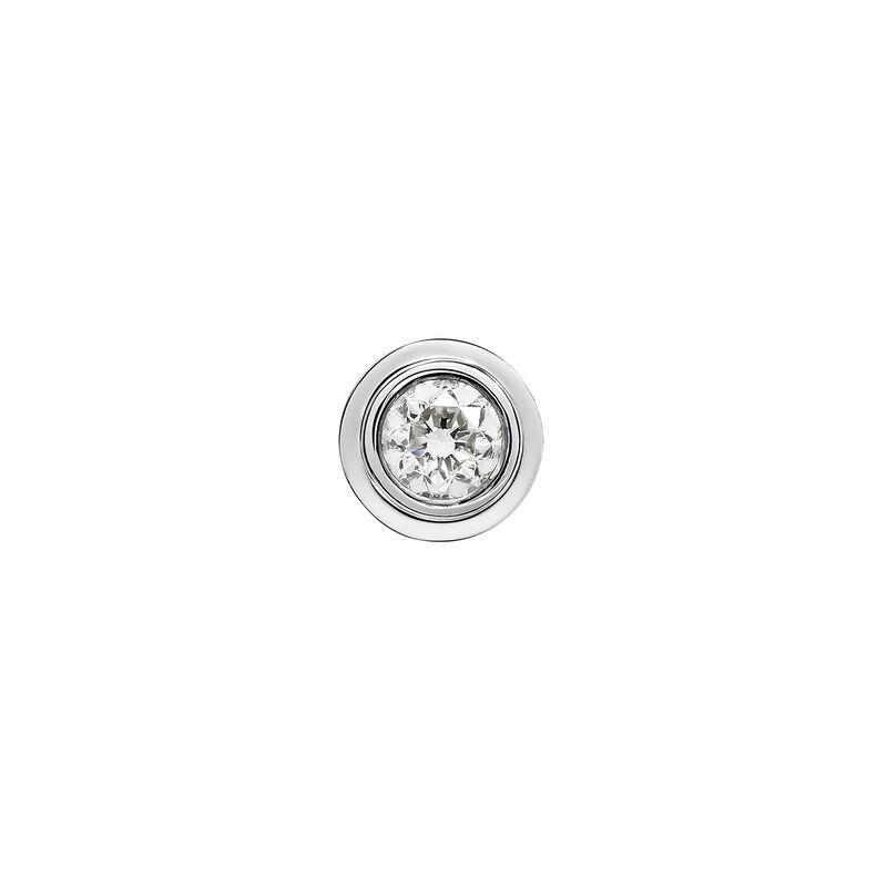 Boucle d'oreille double chaton or blanc 0,07 carat, J03404-01-07-H, hi-res