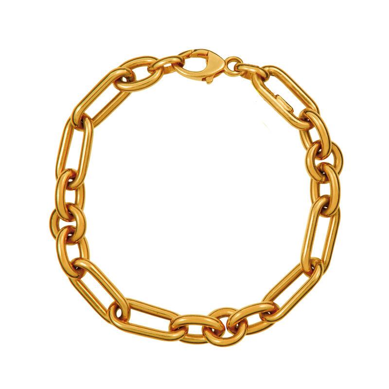 Pulsera mix mediana eslabón oro, J01319-02, hi-res