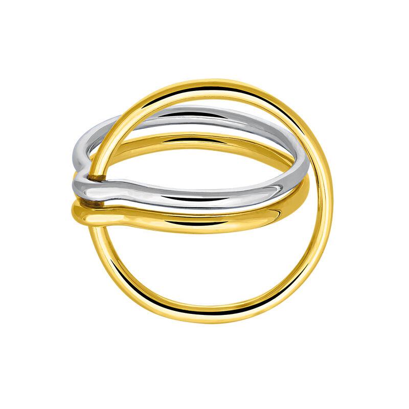 Anillo doble círculo plata y oro, J03490-09, hi-res