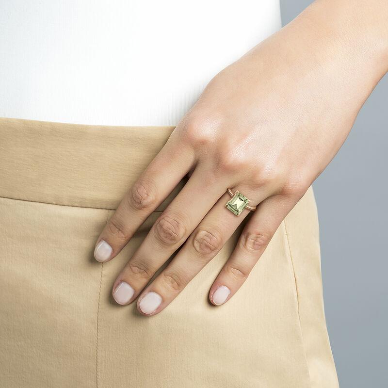 Anillo maxi cuarzo plata recubierta oro rosa, J01960-03-GQ, hi-res