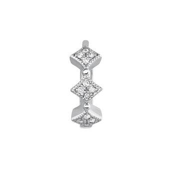 Silver vintage motif hoop earring, J03795-01-GD-H, hi-res