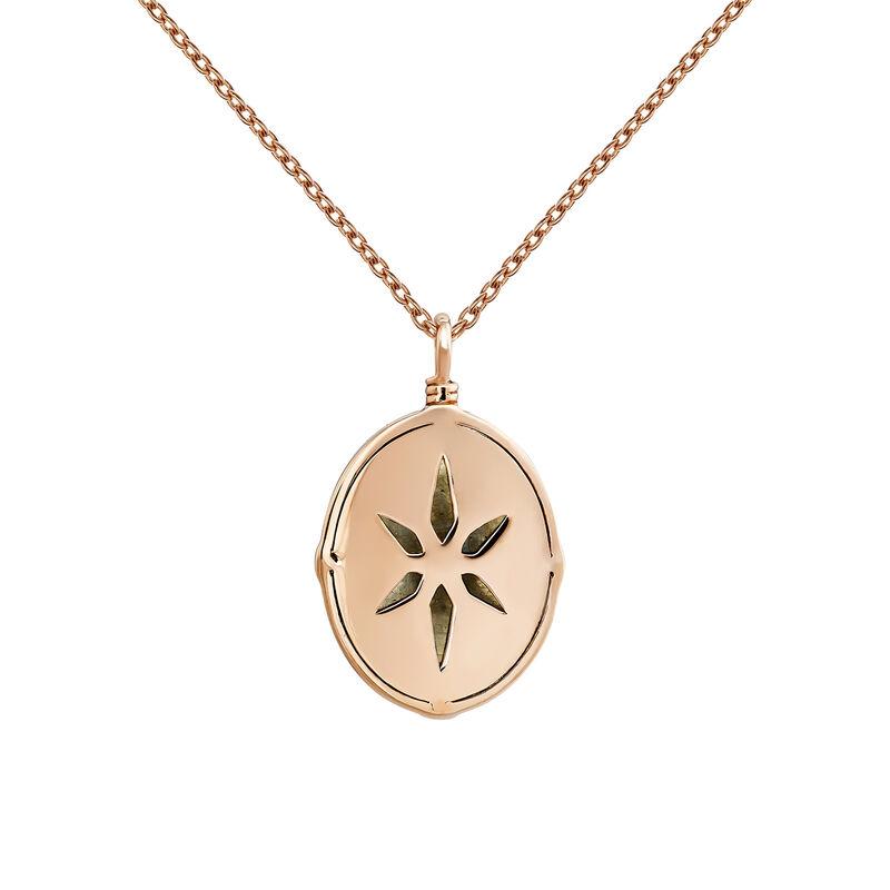 Rose-Gold Star Bohemian Necklace, J03903-03-LA-WT, hi-res