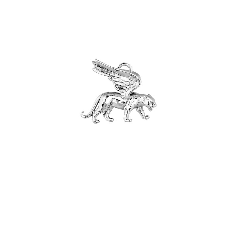 Silver winged panther pendant , J04026-01, hi-res