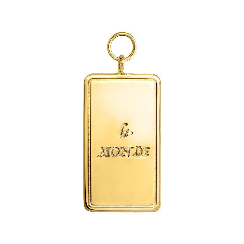 Colgante carta Le Monde oro, J04041-02, hi-res