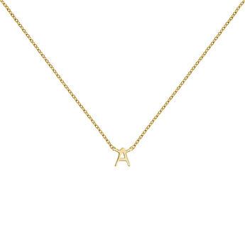 Collar inicial A oro, J04382-02-A, hi-res
