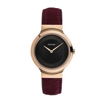 Vesterbro watch red, W48A-PKPKBL-LERD, hi-res