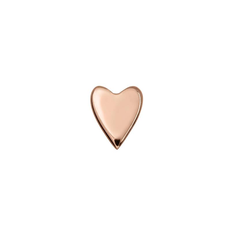 Pendiente piercing corazón oro rosa, J03835-03-H, hi-res