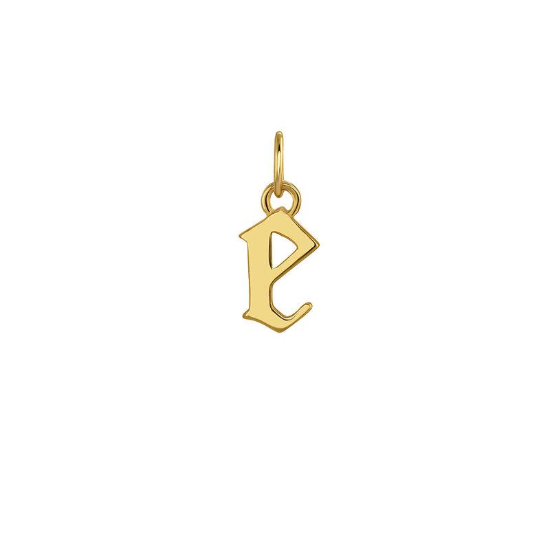 Colgante inicial gótica E plata recubierta oro, J04016-02-E, hi-res