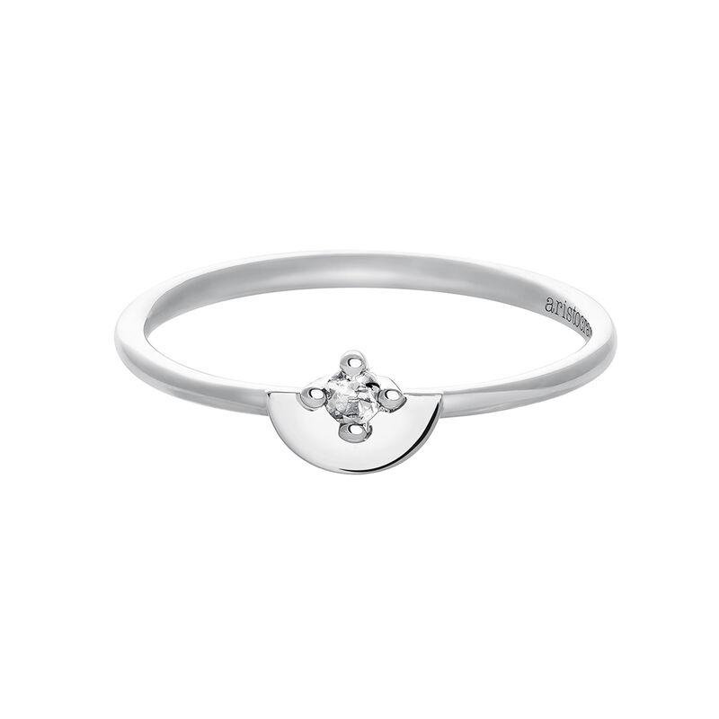 Mini silver topaz ring, J03742-01-WT, hi-res