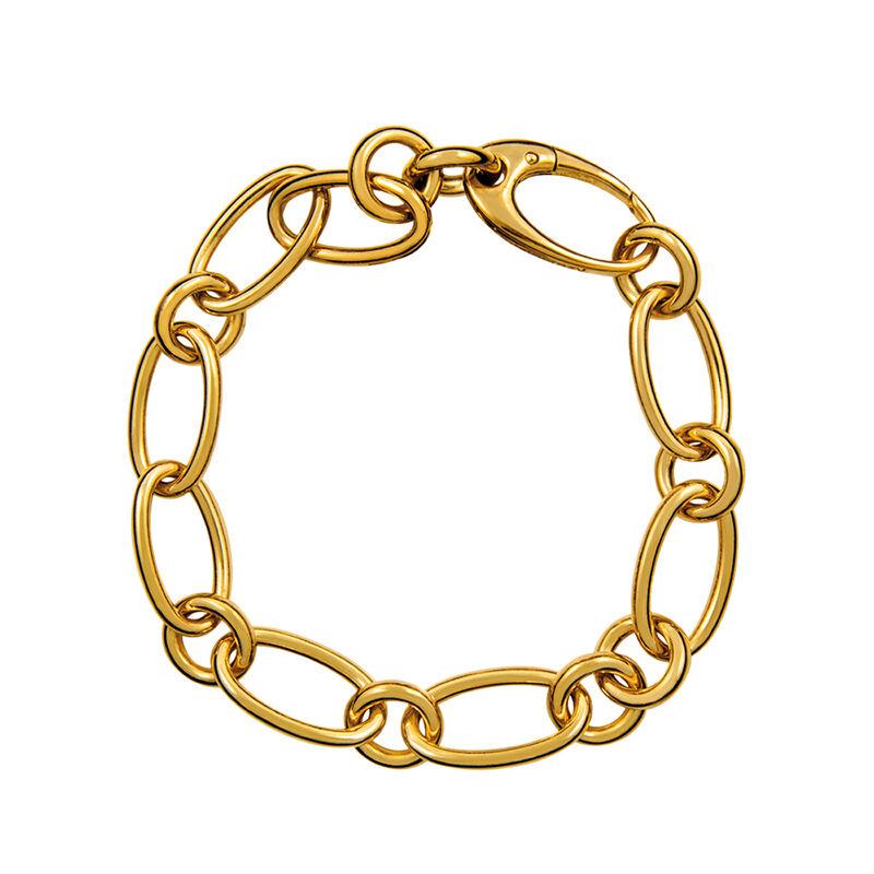 Pulsera mix plata recubierta oro, J01152-02, hi-res