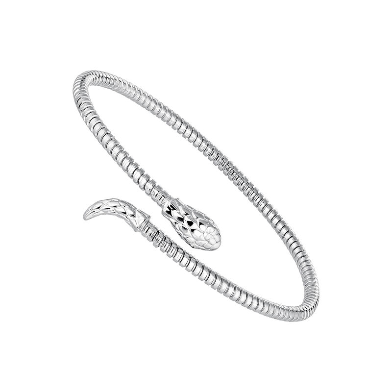 Bracelet serpent fin tuboga argent, J04290-01, hi-res
