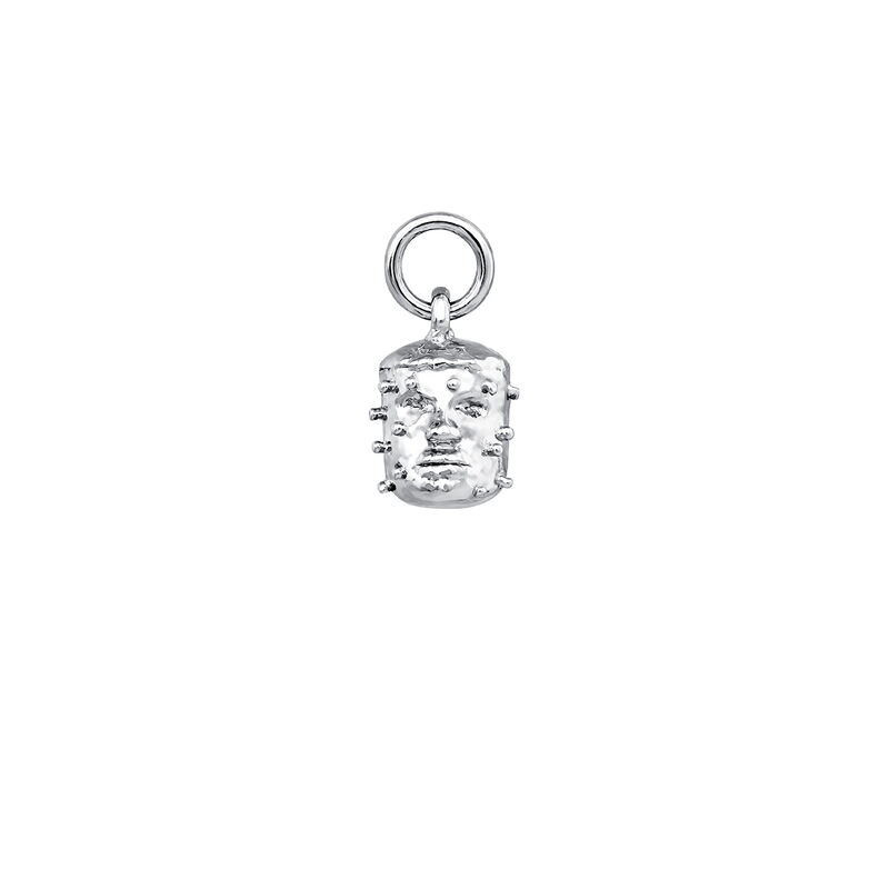 Colgante cabeza de vudú en plata, J04097-01, hi-res
