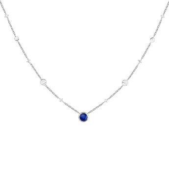 Collier lunes pierre argent, J04003-01-LPS-WT, hi-res