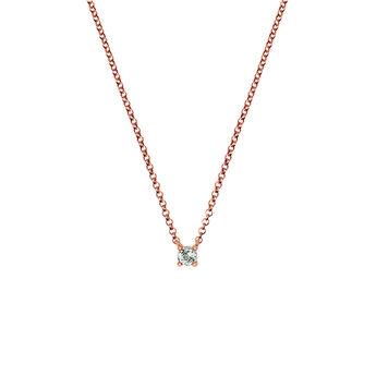 Rose gold green quartz necklace, J03117-03-GQ, hi-res