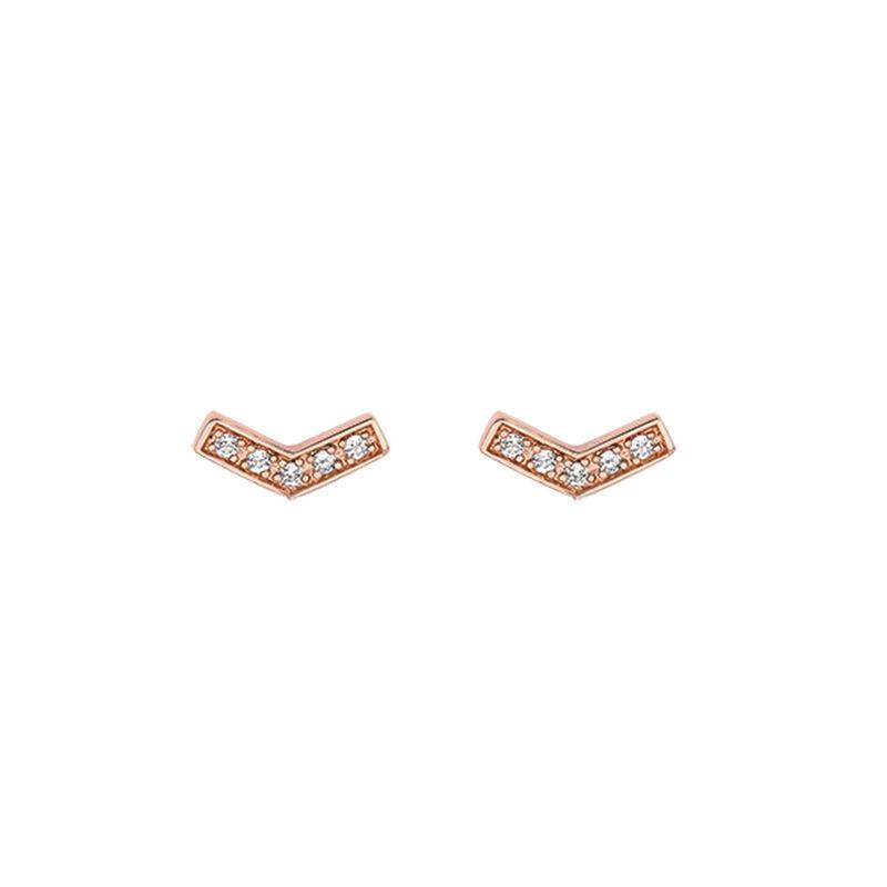 Pendientes en V topacio oro rosa, J03291-03-WT, hi-res