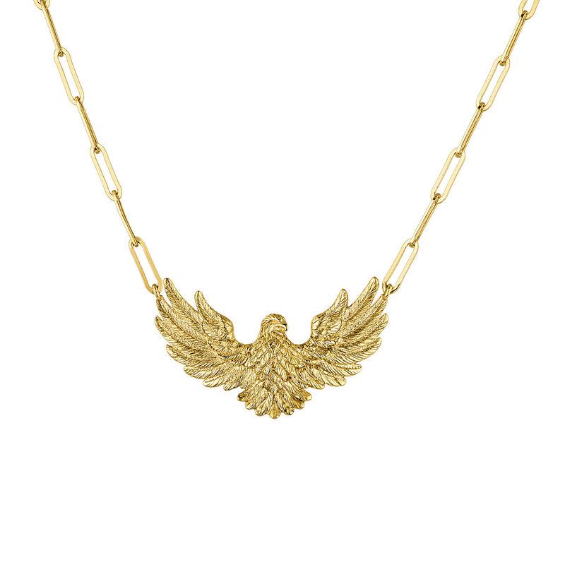 Collar águila plata recubierta oro, J04548-02, hi-res