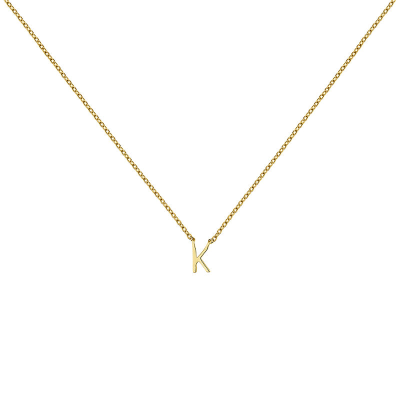 Collier initiale K or, J04382-02-K, hi-res