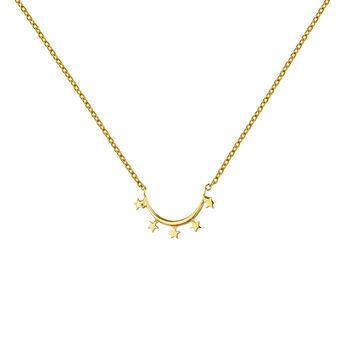 Collar arco estrellas plata recubierta oro, J04860-02, hi-res