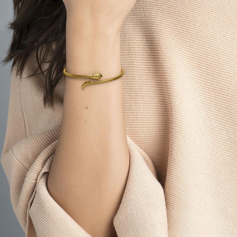 Gold tubogas snake bracelet, J04290-02, hi-res